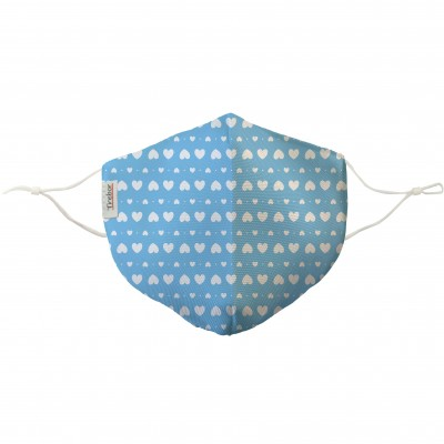 Mascarilla Corazoncitos Azules
